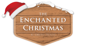 Enchanted Christmas Logo On Wood